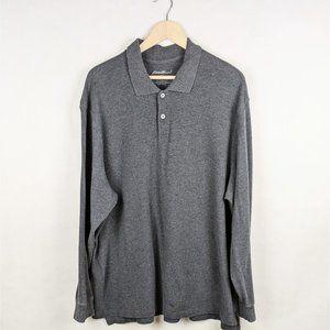 Eddie Bauer Grey Long Sleeve Collared Shirt XXL